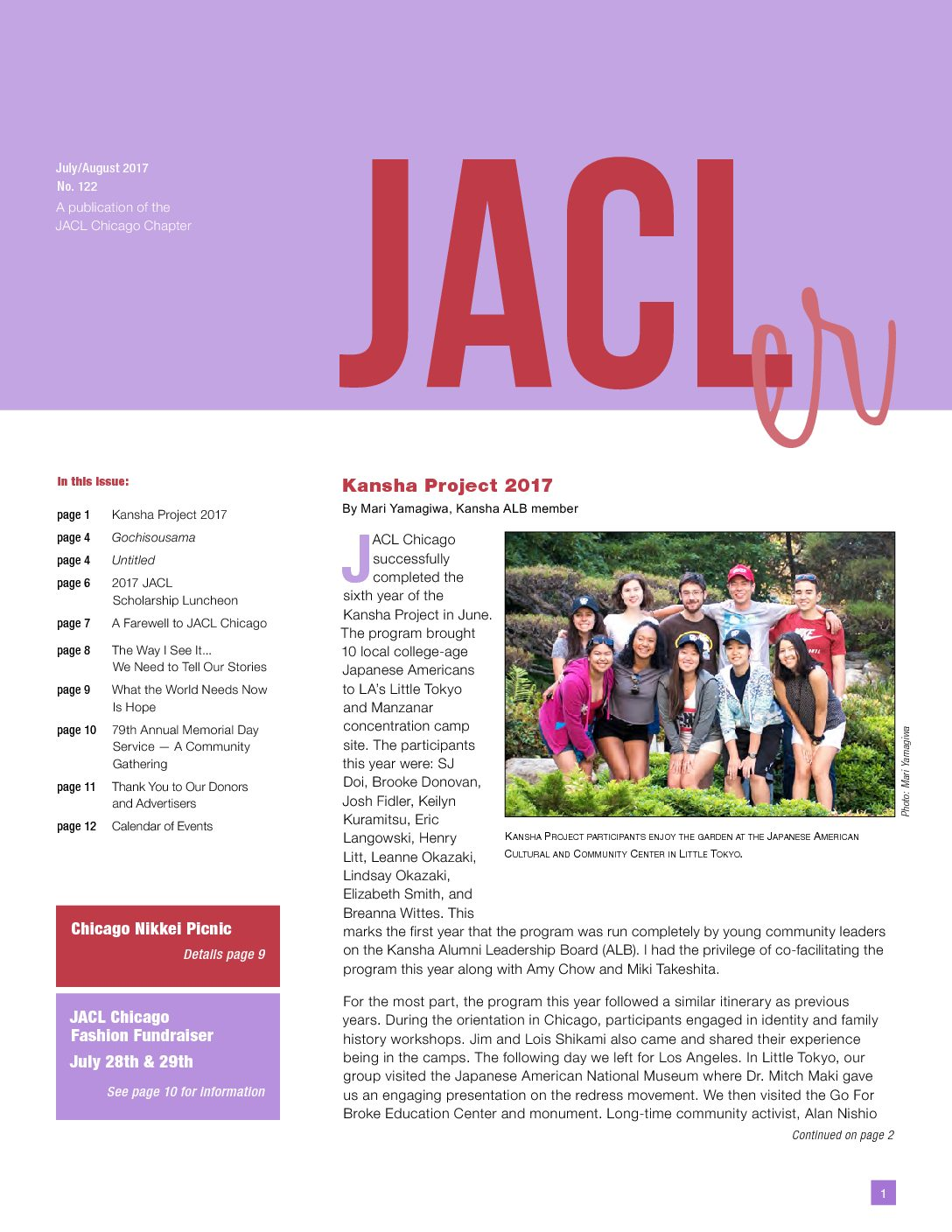 July – August JACLer Now Available!